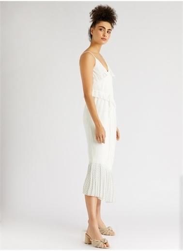 Vekem-Limited Edition Askılı Asimetrik Kesim Elbise Renkli